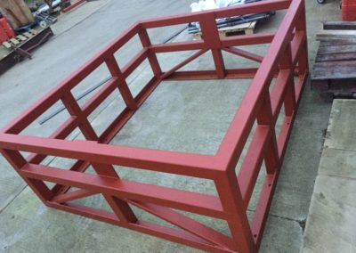Frame for top of lift shaft