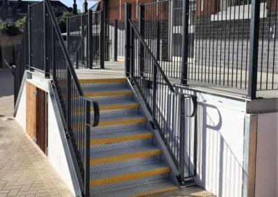 Steps and balustrading